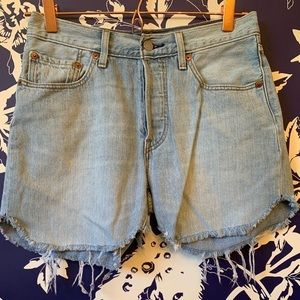 Levi's 501 button fly jean shorts